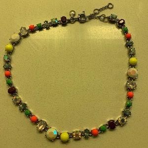 J. Crew multi-color jewel necklace